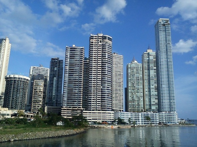 Panama City sea front