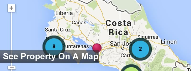 costa rica real estate map