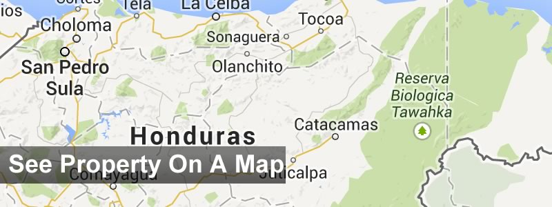 Honduras Real Estate Map